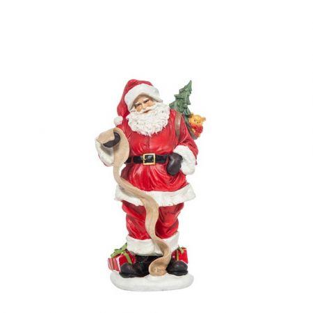 Διακοσμητικός Άγιος Βασίλης polyresin 25cm