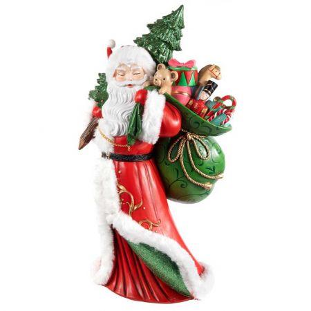 Διακοσμητικός Άγιος Βασίλης polyresin 52,5cm