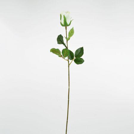 Διακοσμητικό συνθετικό τριαντάφυλλο μπουμπούκι Κρεμ 68cm