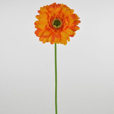 Διακοσμητική συνθετική ζέρμπερα Πορτοκαλί 49cm