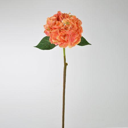 Διακοσμητική τεχνητή Ορτανσία Ροδακινί 59cm