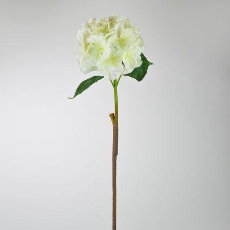 Διακοσμητική συνθετική Ορτανσία Κρεμ 59cm