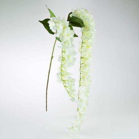 Ανοιξιάτικο ανθισμένο Κλαδί Ορτανσία κρεμ 155cm