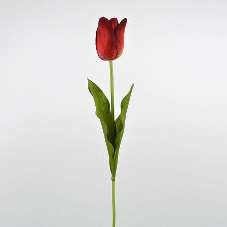 Διακοσμητική συνθετική τουλίπα Κόκκινη 47cm