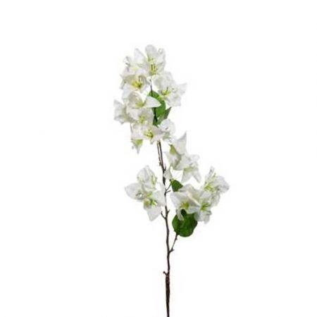 Διακοσμητικό τεχνητό κλαδί με άνθη Βουκαμβίλιας Λευκό 85cm