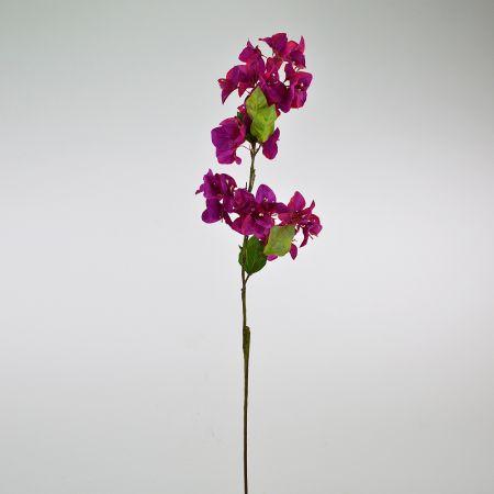 Διακοσμητικό τεχνητό κλαδί με άνθη Βουκαμβίλιας Φούξια 85cm