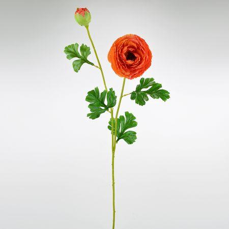 Διακοσμητικό συνθετικό λουλούδι Νεραγκούλα Πορτοκαλί 75cm