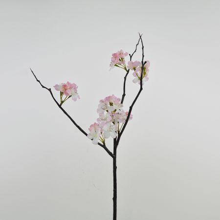 Διακοσμητικό κλαδί με άνθη ροδακινιάς Ροζ 50cm