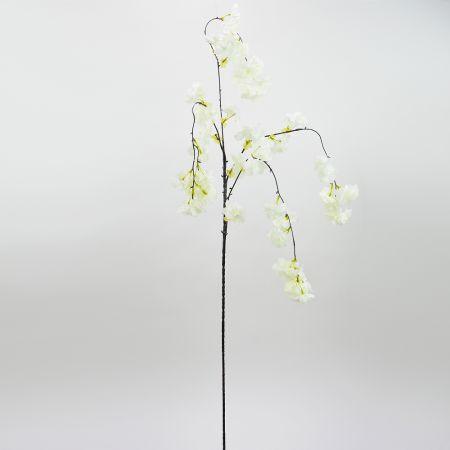 Διακοσμητικό τεχνητό κλαδί με άνθη Ροδακινιάς Λευκά 140cm