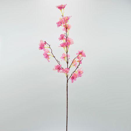 Διακοσμητικό τεχνητό κλαδί Ροδακινιάς  με Ροζ άνθη 140cm