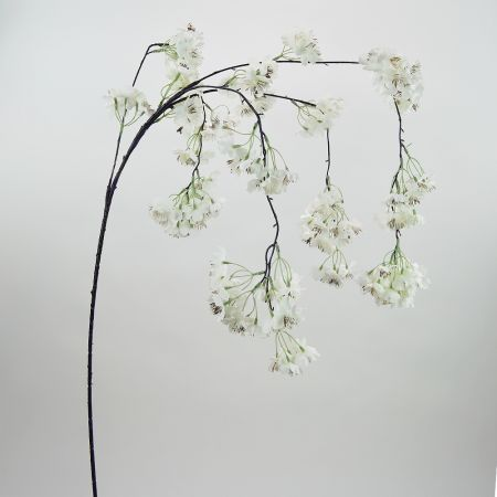 Διακοσμητικό τεχνητό κλαδί Κερασιάς με Λευκά άνθη 120cm