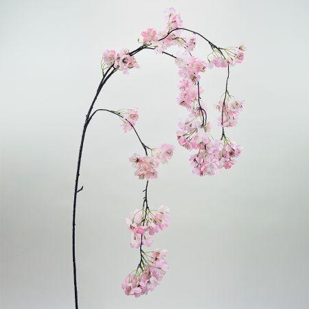 Διακοσμητικό τεχνητό κλαδί Κερασιάς με Ροζ άνθη 120cm