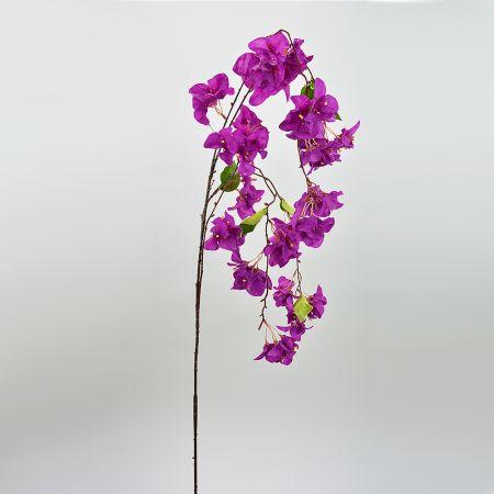 Διακοσμητικό τεχνητό κλαδί με άνθη Βουκαμβίλιας Μωβ 150cm