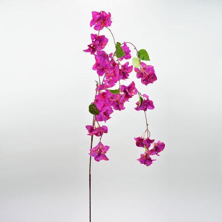Διακοσμητικό τεχνητό κλαδί με άνθη Βουκαμβίλιας Φούξια 150cm