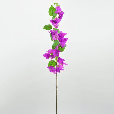Διακοσμητικό τεχνητό κλαδί με άνθη Βουκαμβίλιας Μωβ 80cm