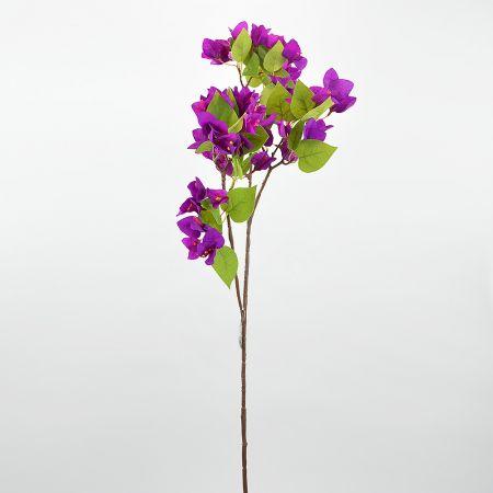 Διακοσμητικό τεχνητό κλαδί με άνθη Βουκαμβίλιας Μωβ 90cm