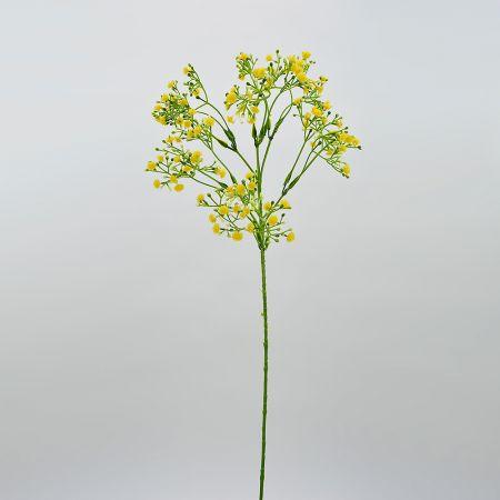 Διακοσμητικό κλαδί Γυψοφίλη με Κίτρινα ανθάκια 55cm