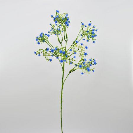 Διακοσμητικό κλαδί Γυψοφίλη με Μπλε ανθάκια 55cm