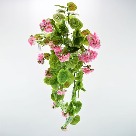 Διακοσμητικό τεχνητό κρεμαστό κλαδί Γεράνι Ροζ 72cm