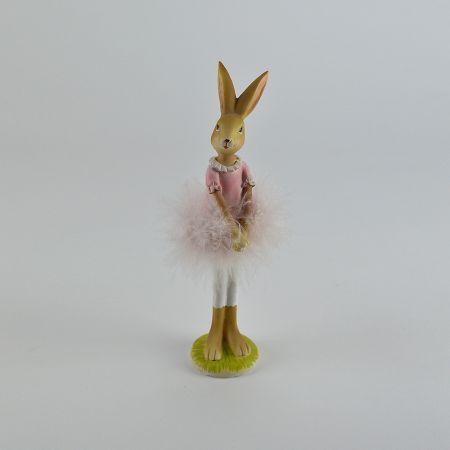 Διακοσμητικό κουνελάκι - μπαλαρίνα 21cm
