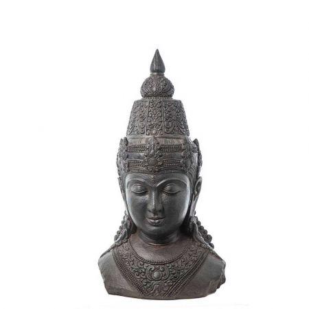 Διακοσμητικό Κεφάλι Βούδα polyresin Ανθρακί 40x28,5x71,5cm