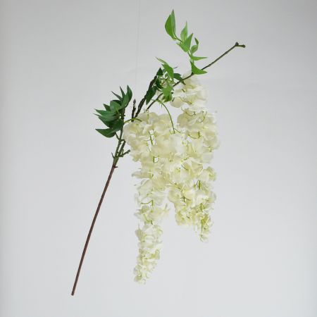 Διακοσμητικό κλαδί Γλυκίνη Λευκό 90cm