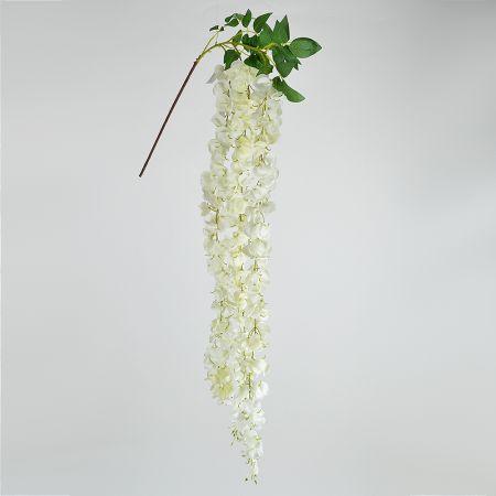 Διακοσμητικό κλαδί Γλυκίνη Λευκό 103cm