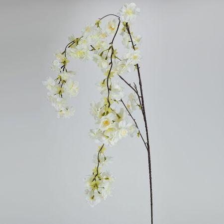 Διακοσμητικό κλαδί Ροδακινιάς Λευκό 120cm