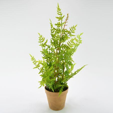 Διακοσμητικό τεχνητό φυτό Φτέρη σε γλαστράκι 24x53cm
