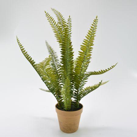 Διακοσμητικό τεχνητό φυτό Φτέρη σε γλαστράκι 13x58cm
