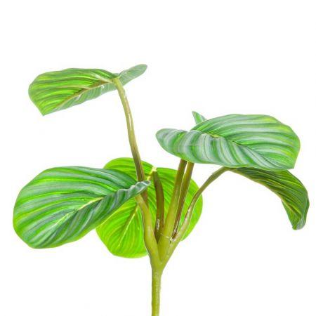 Τεχνητή δέσμη με 6 Φύλλα Καλαθέας Πράσινα 19x20cm
