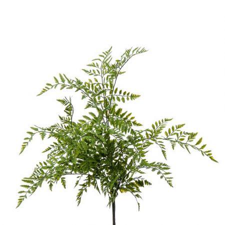 Διακοσμητικό κλαδί - δέσμη με φύλλα Φτέρης 60x50cm