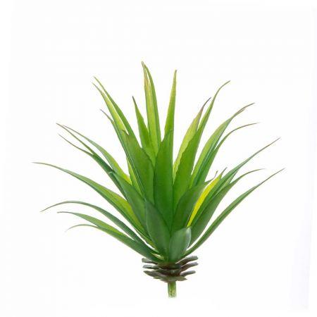Mini Τεχνητή δέσμη με φυτό Αγαύη 16x9cm