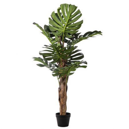 Διακοσμητικό τεχνητό φυτό Monstera σε γλάστρα 130cm