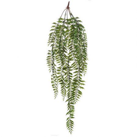 Τεχνητό κρεμαστό κλαδί φτέρης Πράσινο 110cm