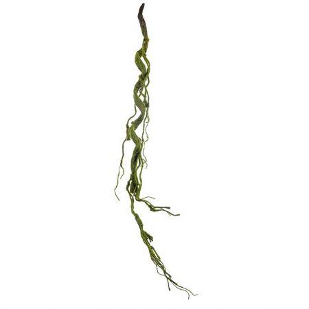 Διακοσμητικό κλαδί λυγαριάς με βρύα Πράσινο 102cm