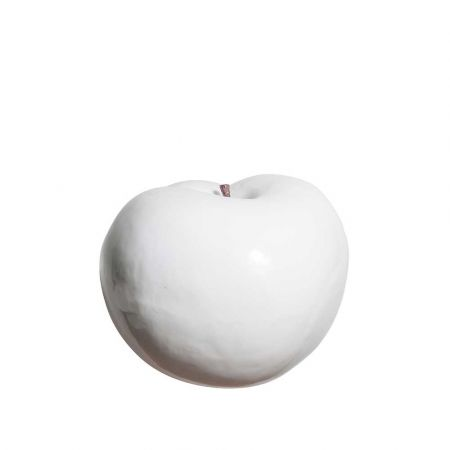 XL Διακοσμητικό Μήλο Λευκό 38cm