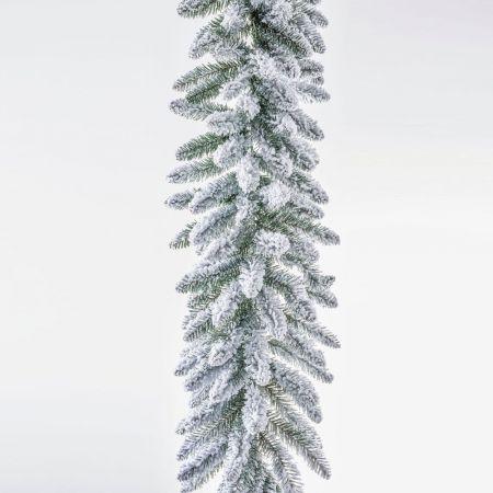 Διακοσμητική Χριστουγεννιάτικη γιρλάντα χιονισμένη 270cm