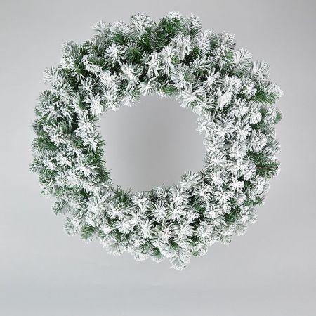 Χριστουγεννιάτικο στεφάνι χιονισμένο 90cm