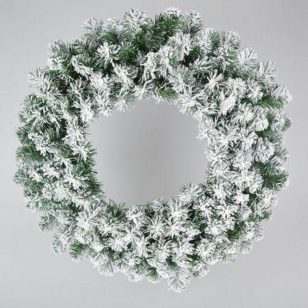 Χριστουγεννιάτικο στεφάνι χιονισμένο 120cm