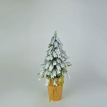 Χριστουγεννιάτικο δεντράκι mini σε craft χαρτί 27cm
