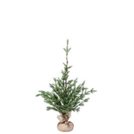 Χριστουγεννιάτικο δέντρο σαν αληθινό PE PLASTIC με βάση τσουβάλι 150cm