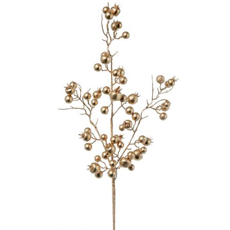 Χριστουγεννιάτικο κλαδί Berries - Γκι Χρυσό 50cm