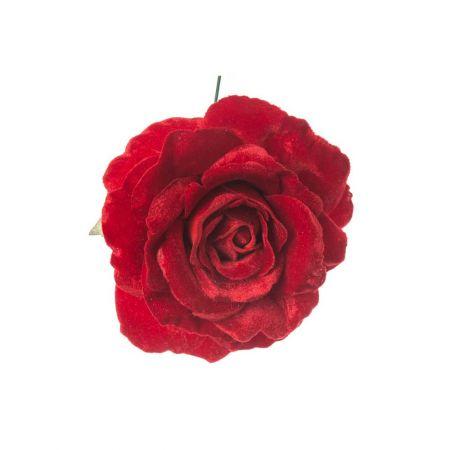 Βελούδινο τριαντάφυλλο deluxe Κόκκινο 17cm