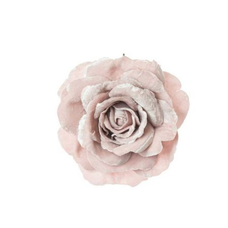 Βελούδινο τριαντάφυλλο deluxe Ροζ - Λιλά 17cm