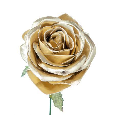Χριστουγεννιάτικο τριαντάφυλλο Χρυσό 15cm