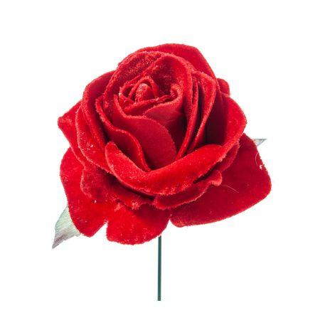 Χριστουγεννιάτικο τριαντάφυλλο deluxe Κόκκινο 16cm
