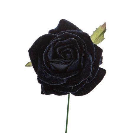 Βελούδινο τριαντάφυλλο deluxe Μπλε 16cm
