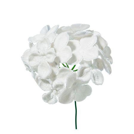 Χριστουγεννιάτικο λουλούδι Ορτανσία deluxe Λευκό 19cm