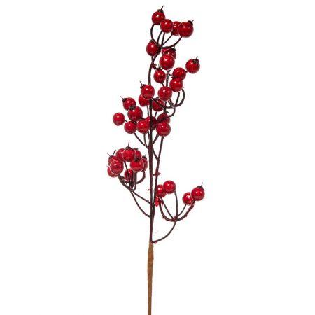 Χριστουγεννιάτικο κλαδί Berries - Γκι Κόκκινο 33x10cm